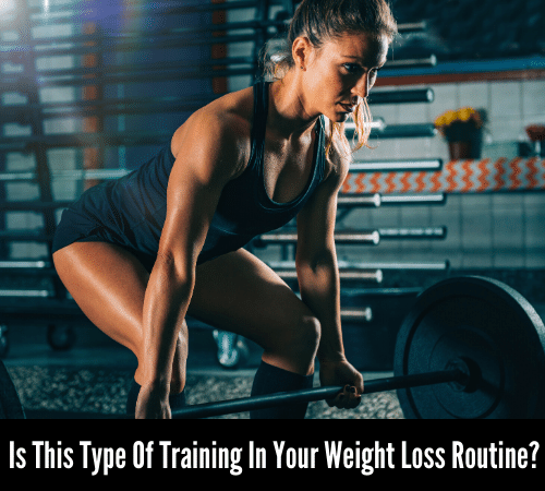 Women deadlifting for a fast twitch fiber training routine for weight loss.